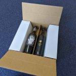 4 bottle wine shipper cardboard
