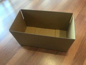 570 x 290 x 150 Cardboard Croissant Box 2