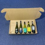 6 bottle laydown, wine packaging