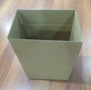 6 bottle cardboard wine box brown